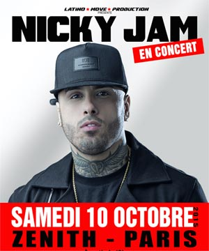 NICKY JAM IN CONCERT IN PARIS 10/10/2015