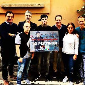 NICKY JAM IN ITALY 4 AWARD PLATINUM