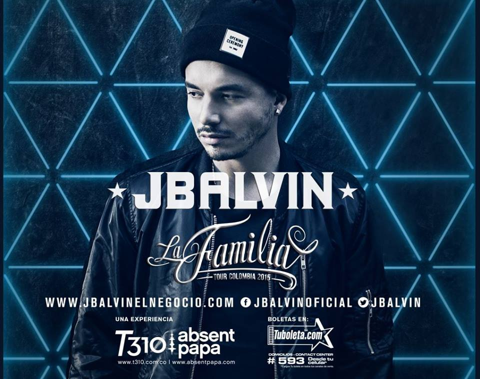 JOSE BALVIN IN CONCERT NOVEMBER 28,2015 IN MEDELLIN COLOMBIA
