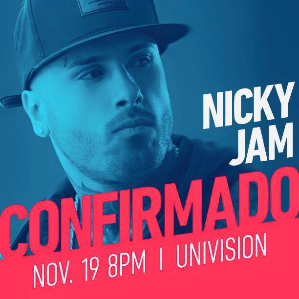 NICKY JAM NOVEMBER 19 LATIN GRAMMY AWARDS IS CONFIRMED