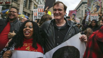 QUENTIN TARANTINO BOYCOTT IS A MAFIA-STYLE PROTECTION RACKET  PROTEST ORGANIZER SAYS MOVIES